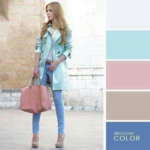 Pink blue beige
