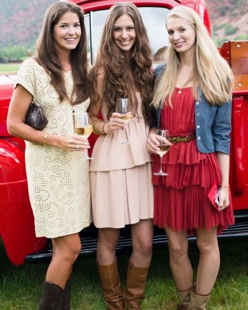 "The dress code for this Aspen rehearsal dinner? ""Western-Chic"""