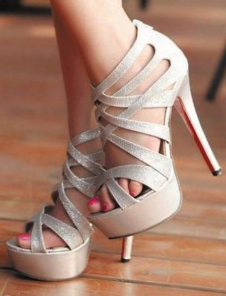 Every girl needs a good pair of silver heels and these are gorgeous!
