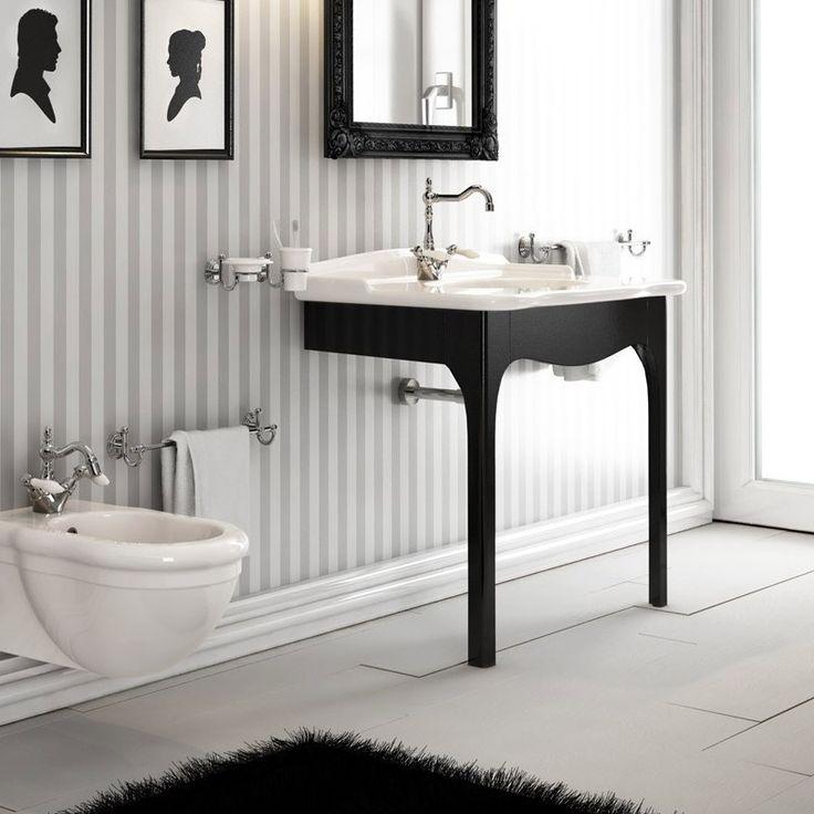 hidra ellade klassische waschtischkonsole mit holz untergestell hidra ceramica ellade. Black Bedroom Furniture Sets. Home Design Ideas