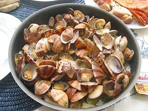 Clams, Bulhão Pato style  This dish got its name from Raimundo António de Bulhão Pato, a famous Portuguese poet from the 19th century.