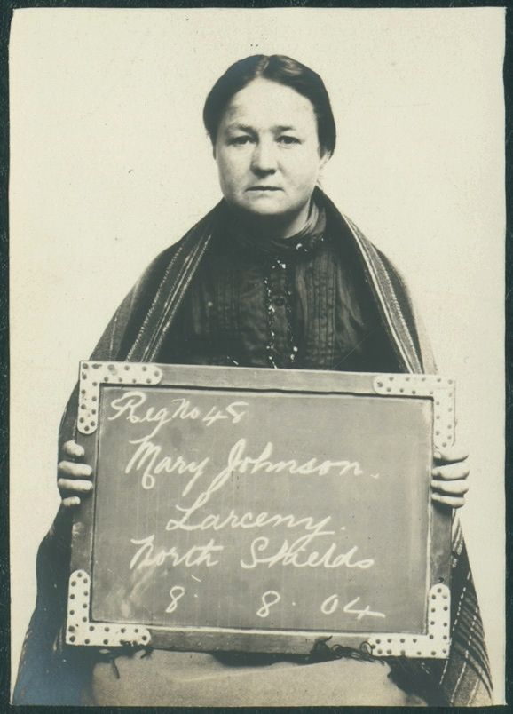 "https://flic.kr/p/sZnSmJ | Mary Johnson | Name: Mary Johnson Arrested for: Larceny Arrested at: North Shields Police Station Arrested on: 8 August 1904 Tyne and Wear Archives ref: DX1388-1-35-Mary Johnson  The Shields Daily Gazette for 8 August 1904 reports:  ""THREE MONTHS EACH. NEWCASTLE THIEVES IN NORTH SHIELDS  Daniel McCann (30), Newcastle, and Mary Johnson (30), alias Elizabeth Chantiller, Newcastle, were charged with stealing the sum of 7s 2d from George Henry Lilley on the 6th.  ..."