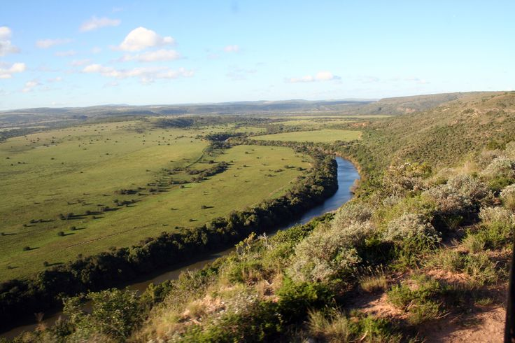 Scenic views of Bushmans River at Amakhala Game Reserve