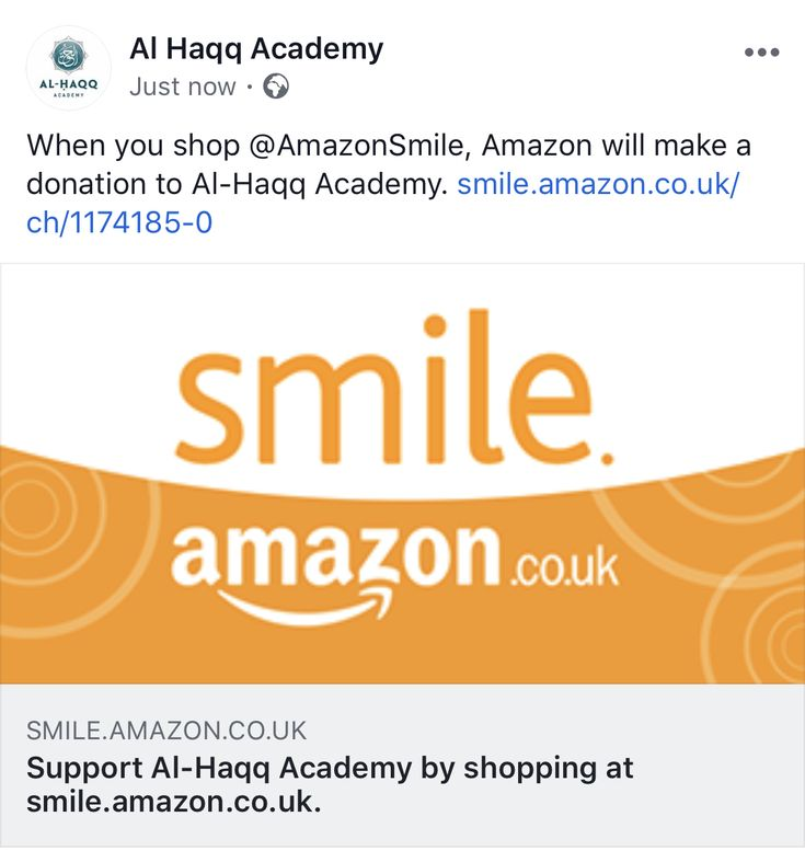 When you shop @AmazonSmile, Amazon will make a donation to ...