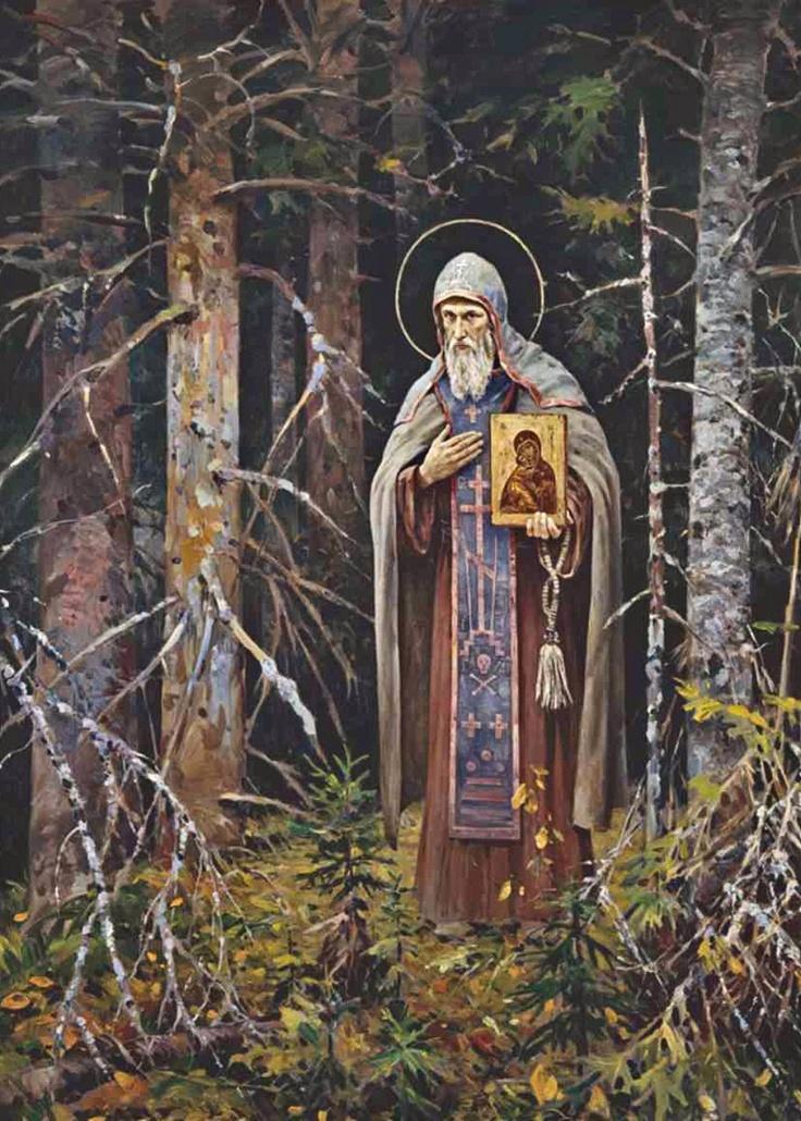 Vasili Nesterenko. St Nil Stolobensky. #art