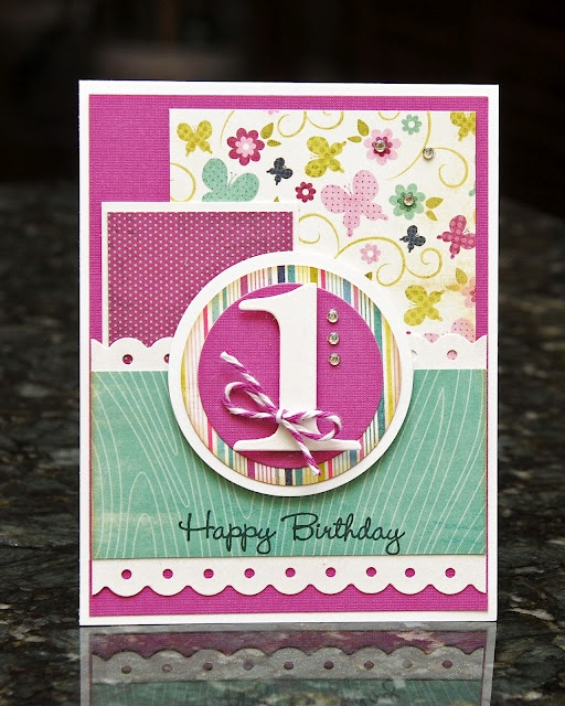 from WaterDots by Arlene. Pretty card.  Would use for older BD card.