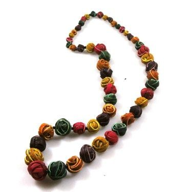 Hey, I found this really awesome Etsy listing at https://www.etsy.com/listing/201390393/orange-peel-necklace-with-natural-fibers