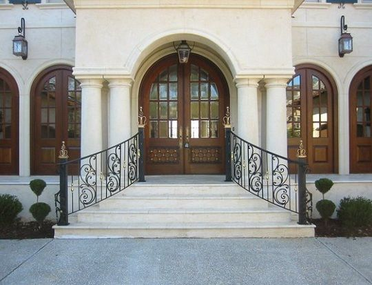 Wrought Iron Railing   Exterior Outdoor Wrought Iron Railings Image