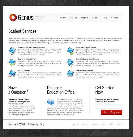 Genius Education Website Templates by Delta