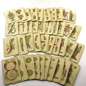 Risultati immagini per vecchie carte di gioco