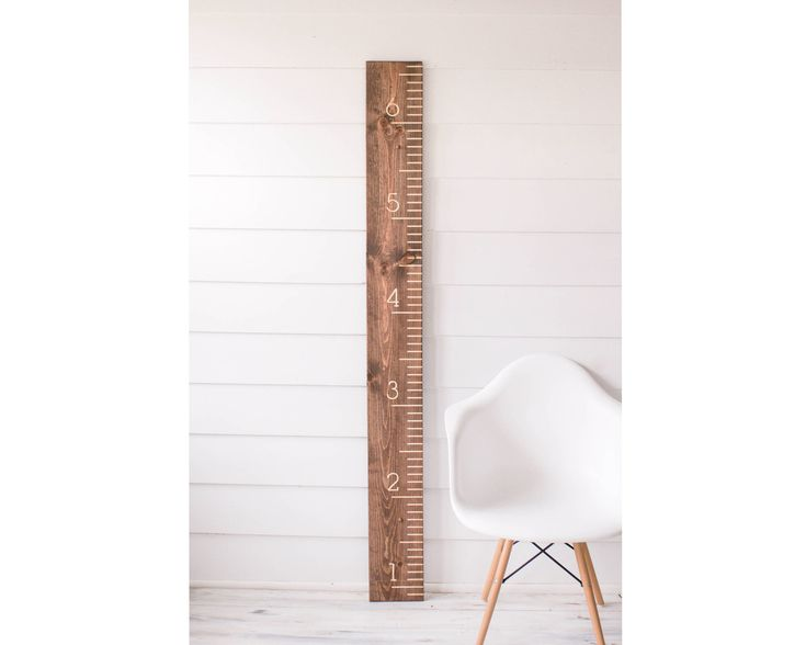 Walnut Carved Growth Chart - Oversized Wooden Ruler - Growth Chart Ruler - Family Height chart - Baby Growth Chart - Baby Gift by DownrightCreative on Etsy