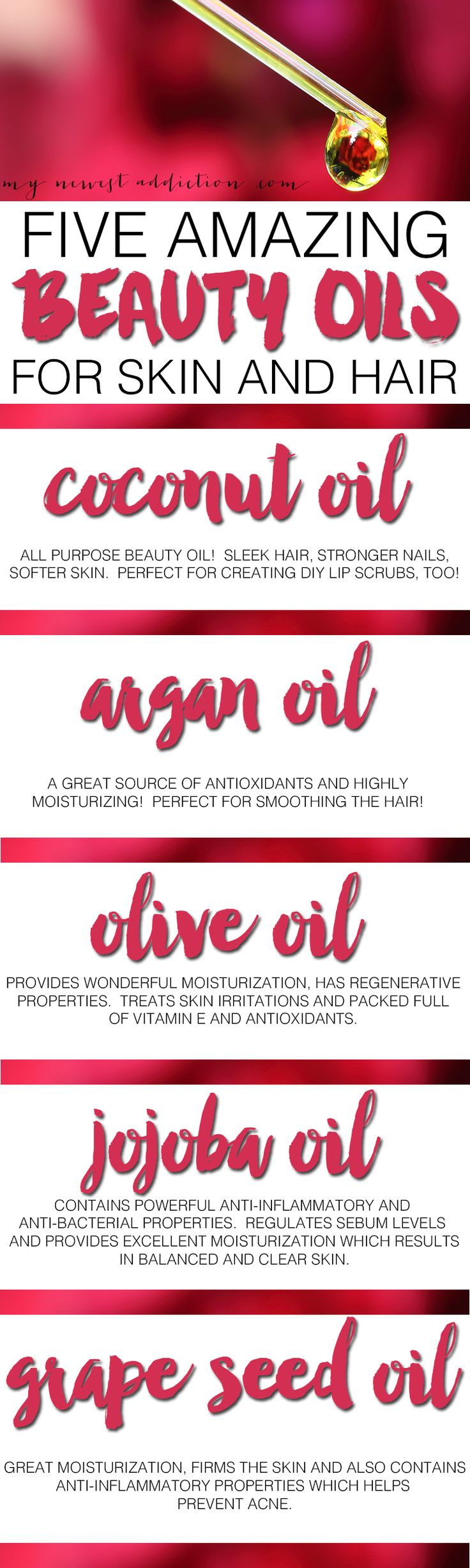 5 AMAZING BEAUTY OILS FOR SKIN AND HAIR! Learn what they are for and how to use them!