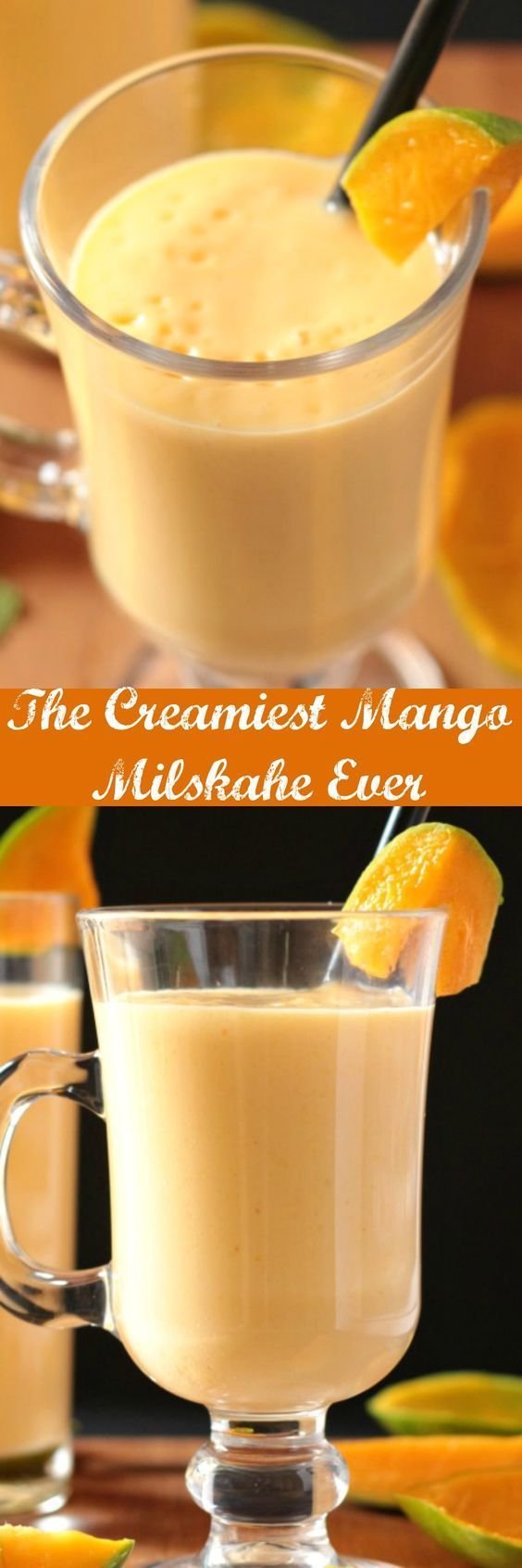 This is thickest, creamiest mango milkshake ever made with only 3 ingredients. No cream added!