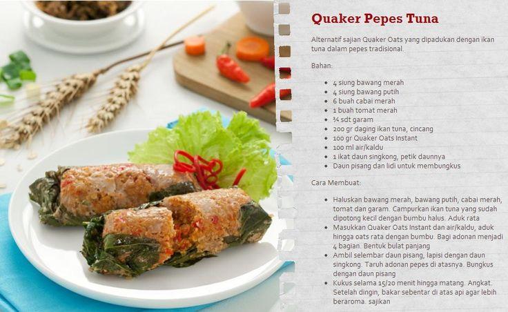 Dinner malam ini coba sajian Quaker Oats baru yang enak dan pastinya sehat.  Resep lainnya bisa Anda lihat disini www.sayangijantungmu.com/resep