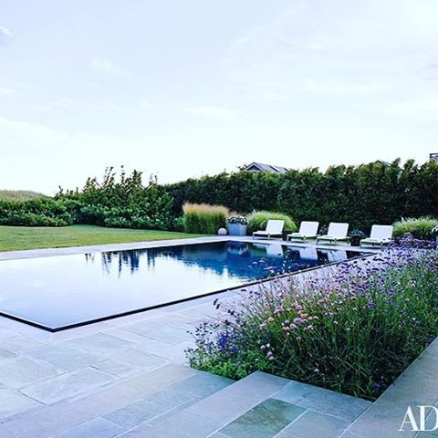{ L O N G I S L A N D }  On a very HOT Summer's Day I can't think of a better way to cool down!  This gorgeous Long Island Home appeared in @archdigest and was designed by the very talented @tom_kligerman #summer xxx