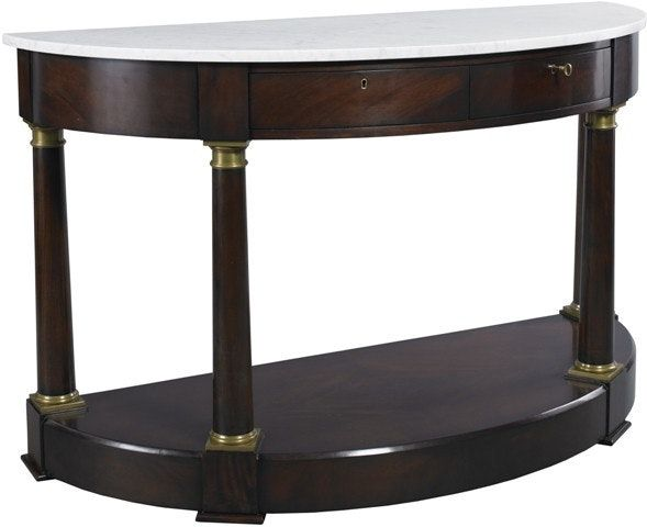 Buy William Demilune Console by Lillian August - Made-to-Order designer Furniture from Dering Hall's collection of Traditional Console Tables.