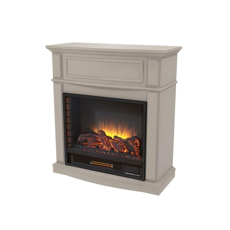 Home Decorators Collection Niya 32 In Ir Electric Fireplace In Bleached Linen Electric