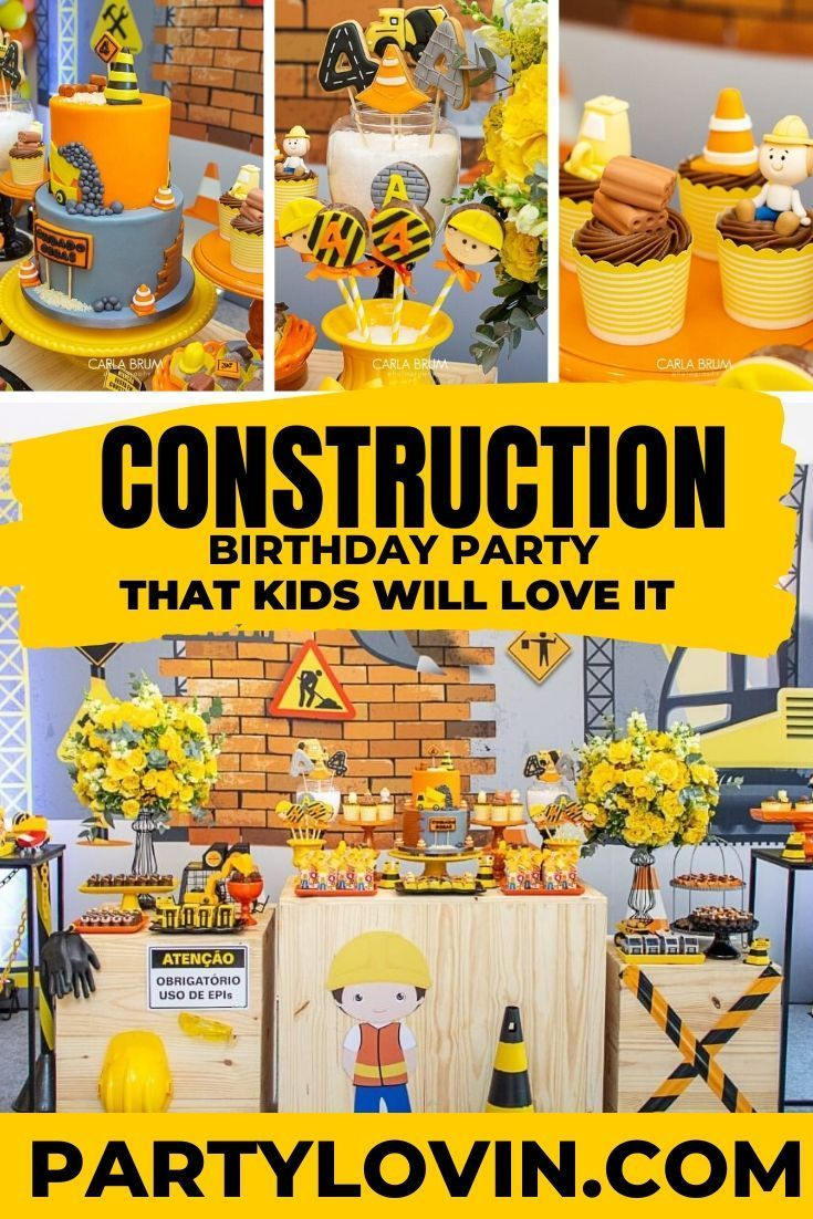 Under Construction Birthday Party Construction Birthday Construction Birthday Parties Boy Birthday Parties