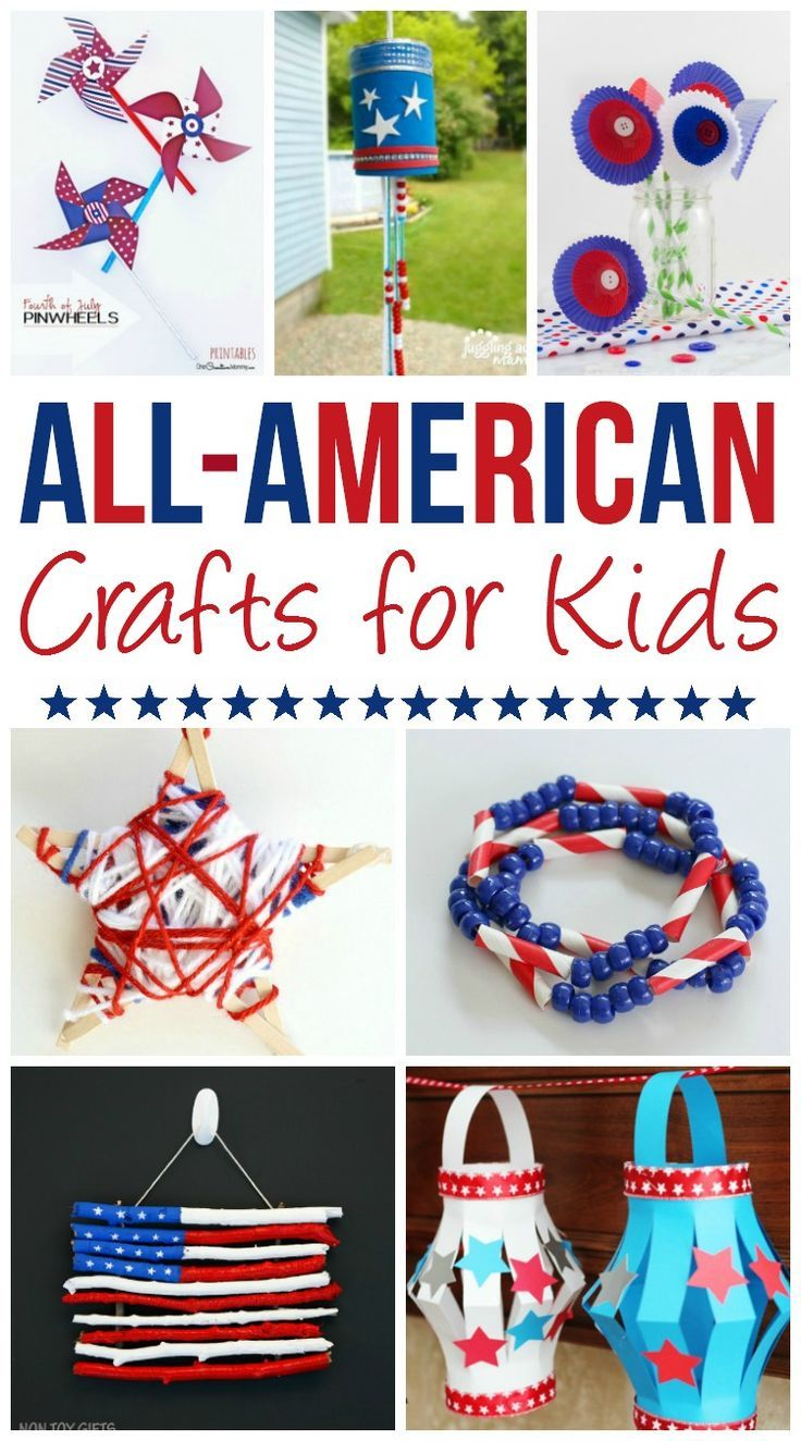 It's time to celebrate the birth of America! Make this Independence Day or Memorial Day super special with Al American crafts for kids! Planning crafts for your kids is a great hands-on way to celebrate America the beautiful!