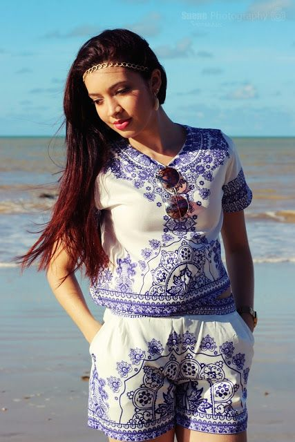 Suene Fernandes: Looks de Suene: Especial! Conjuntinho Azulejo Port...