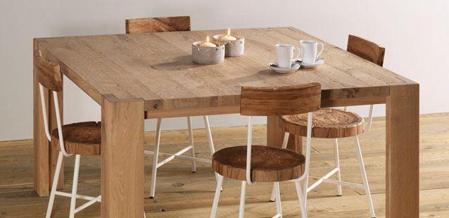 Tavolo quadrato in legno massello - Bisanzio quadro - Essence Wood