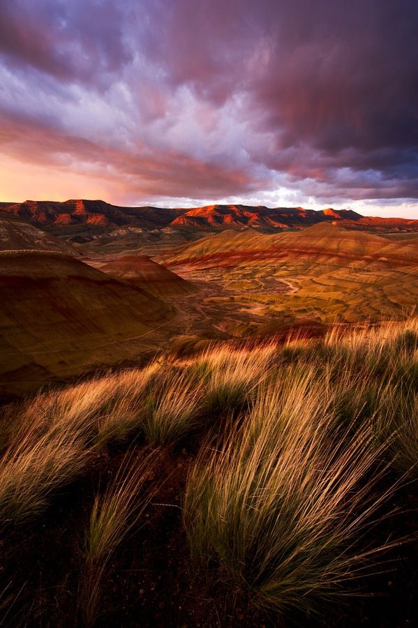 Map Of Oregon Deserts%0A    Painted Sunset   Dramatic storm light over Oregon u    s Painted Hills m by  Alex Mody