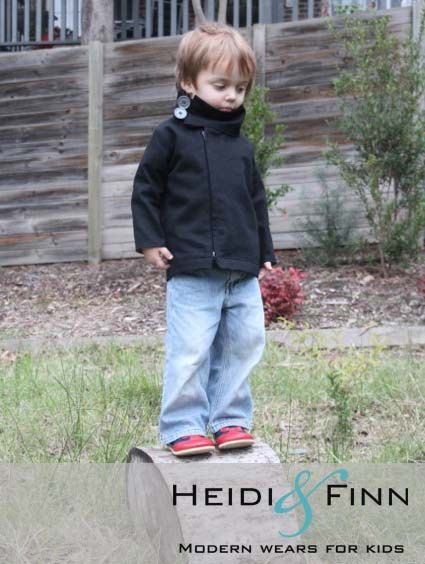 NEW Urban Weekender Coat pattern and tutorial 12M - 5T PDF pattern boy girl modern zipper jacket cowl