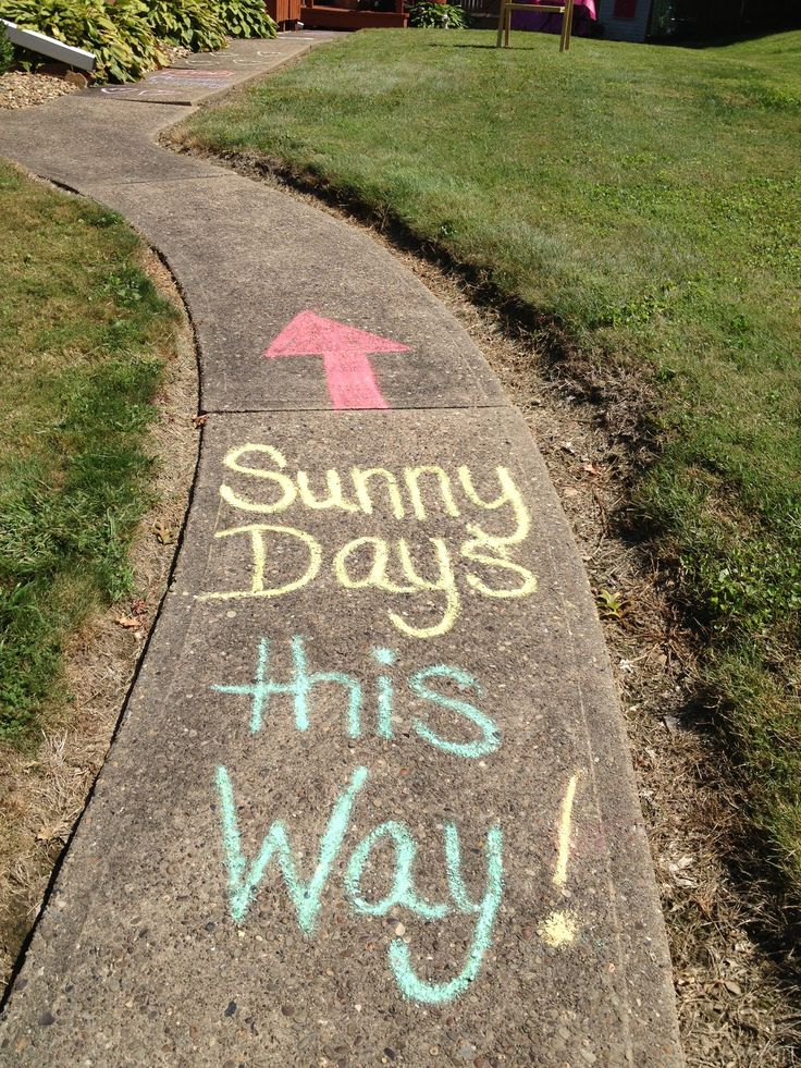 Sesame Street birthday sidewalk chalk