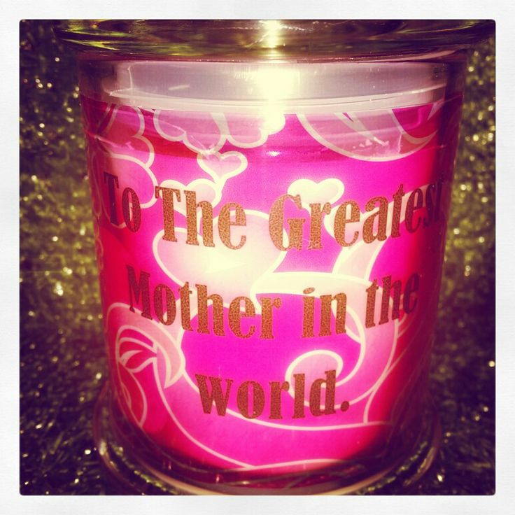 Mothers day candles.  X