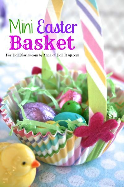 Doll sized Easter Basket tutorial from Doll Diaries - So cute!