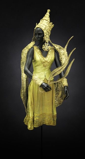 A 1912 Costume from Le Dieu Bleu (Blue God), designed by Leon Bakst.