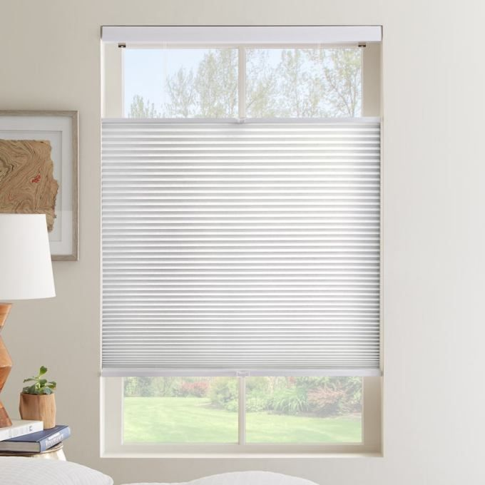 1 2 Single Cell Value Plus Cordless Top Down Bottom Up Light Filter Honeycomb Shades Comes Standard With Top Honeycomb Shades Honeycomb Blinds Cellular Shades