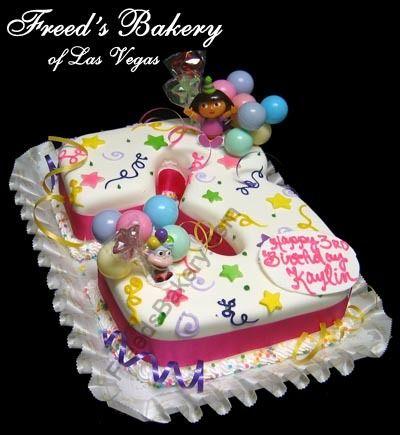 Inspiration for a 3rd Birthday cake. Novelty Cakes Dubai. Sweet Secrets. www.sweetsecretsdubai.com
