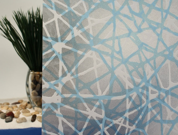 privacy web blue decorative window film - Decorative Window Film