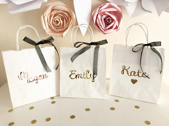Wedding Party Gift Bags Boutique Gift Bag Personalised Maid of Honour Gift Bag Personalised Bridesmaid Gift Bag