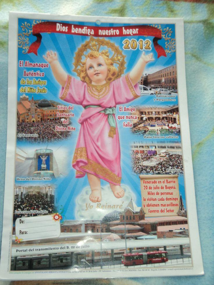 el segundo Almanaque biblico de los amigos del Divino Niño Jesús  2012
