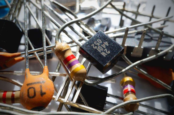 #capacitor #components #electrical components #electronics #macro #resistor #transistor