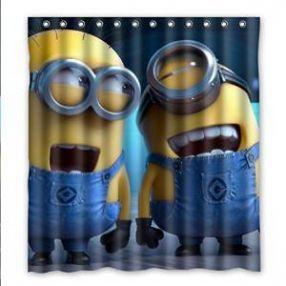 Laughing Minion Shower Curtain   Cute Minions Bathroom Decor