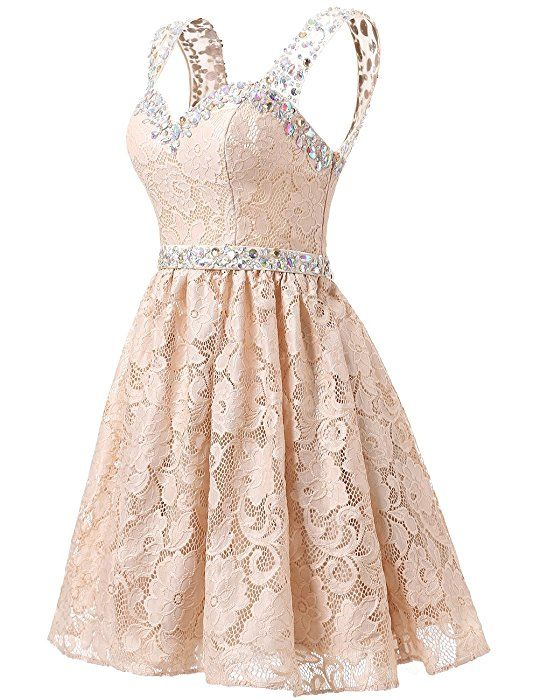 Dresstells® Short Chiffon Strapless Prom Dress With Beading Homecoming Dress