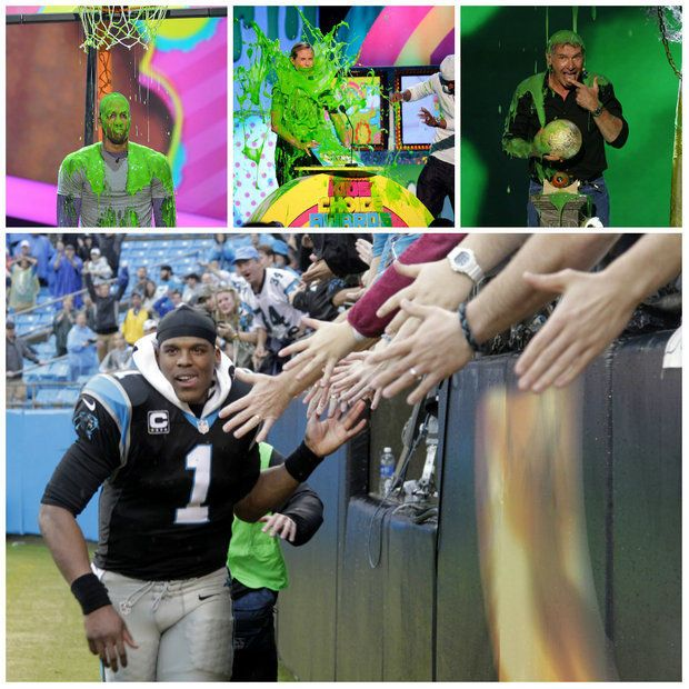 Will Cam Newton get slimed at the 2014 Nickelodeon Kids' Choice Awards? (Full story and video at AL.com)