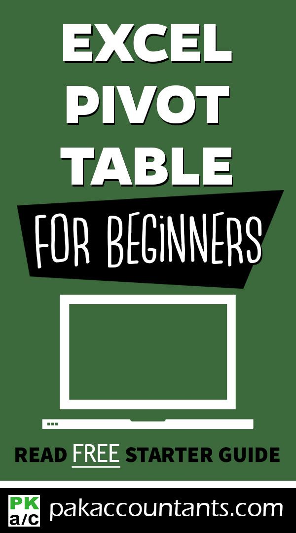 #Excel #Information: Pivot Tables for Absolute Newcomers
