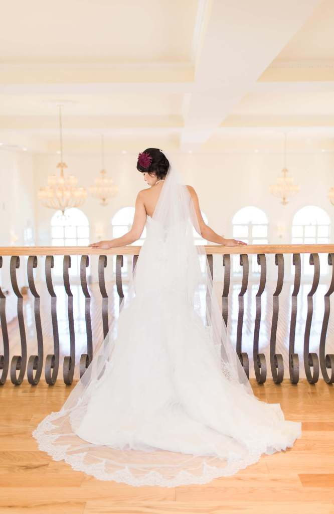 Cathedral Veil by the Mantilla Company. As a bride, having a cathedral veil makes for gorgeous wedding pictures. Achieve the timeless and classic bridal look and honor your Latin wedding traditions,