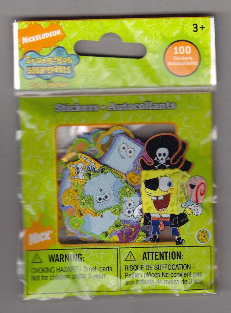 Sandylion+Nickelodeon+SPONGEBOB+SQUAREPANTS+Pirate+-+100+Die+Cut+Stickers++-+DC02