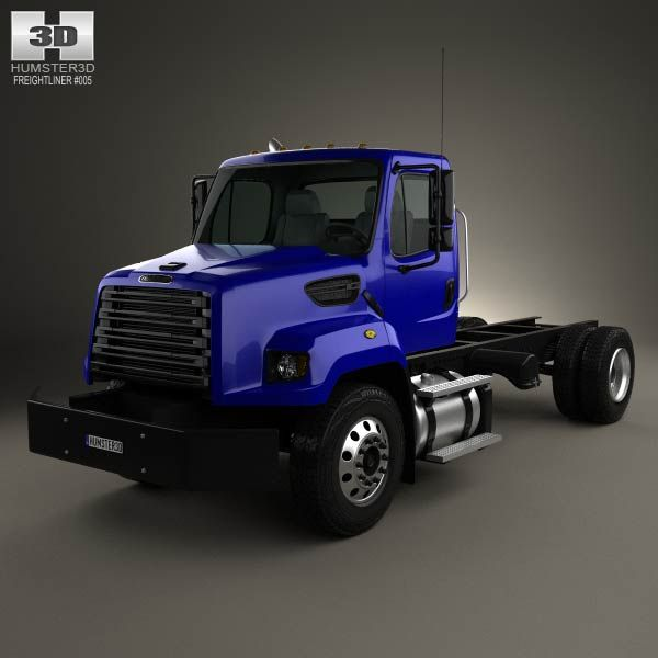 Freightliner 108SD Chassis Truck 2011 3d model from humster3d.com. Price: $75