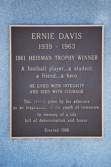 In 1961 Ernie Davis became the first African-Anerican to win the Heisman. He was drafted by the Redskins who then traded him to the Browns. But before the season began he was diagnosed with leukemia and died without ever playing a down in the NFL.  http://ift.tt/2ce78nc Submitted September 10 2016 at 12:14AM by Romobyl via reddit http://ift.tt/2ce7D0J
