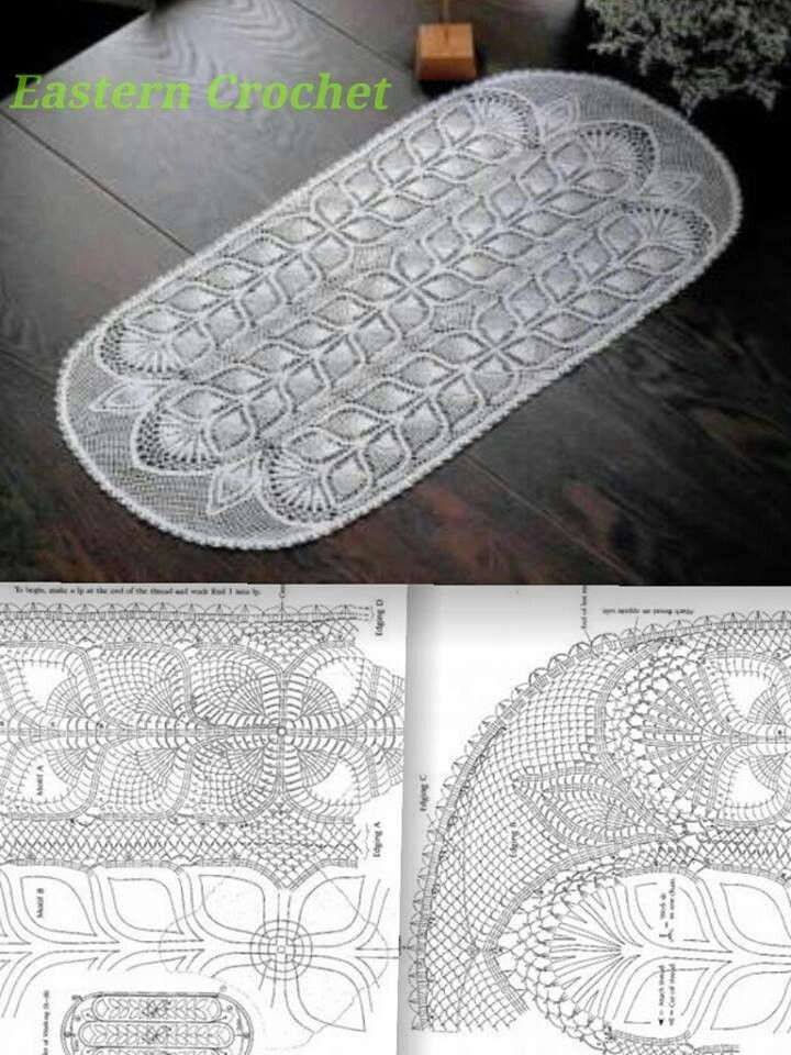 321 Best Images About Oval Crochet Doilies On Pinterest
