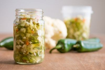 Giardiniera is a wonder condiment, turning any sandwich into a burst of flavor. Here is our Chicago-style recipe with plenty of chili peppers.
