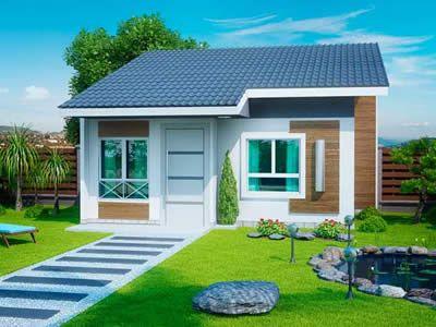 Plantas de casas pequenas e bonitas, modelos grátis