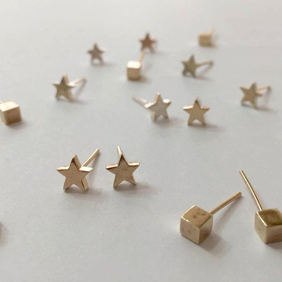 Little Star Earrings  The unique Little Star earrings are a part of my Childhood Memories collection. When you wish upon a star your dream  #studearrings  www.liatwaldman.com/