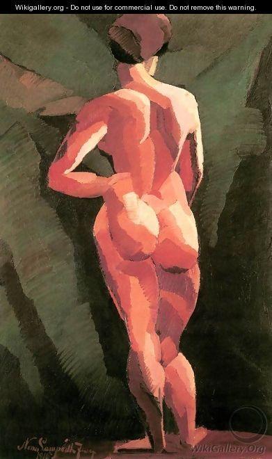 Nude, 1916 - Jozsef Nemes Lamperth (1891-1924) pintor húngaro y artista gráfico.